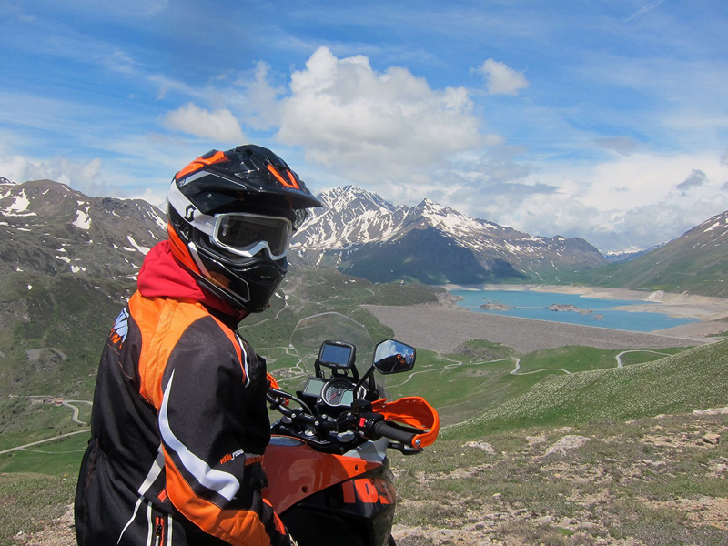 KTM Adventure 1050 am Lac Cenis