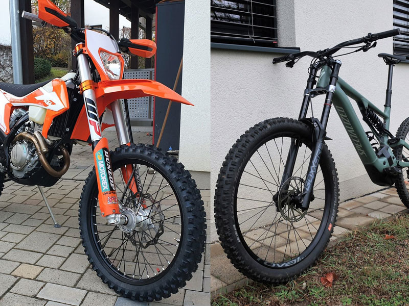 KTM EXC350 vs Spezialized Turbo Kenevo