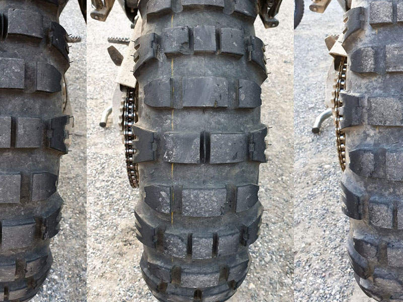 KTM Adventure 790R Mitas E-09 Reifenverschleiß