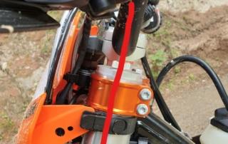 KTM EXC Lenker richtige Position