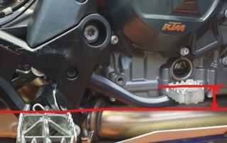 KTM Adventure 790 Fußbremshebelsetup offroad