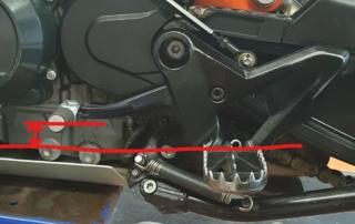 KTM Adventure 790 Schalthebelsetup Offroad
