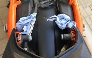 KTM Adventure 790R Filterhutzen zugestopft