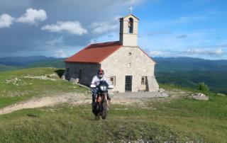 Adventurebiketour TET Slowenien Jentlflow - Kirche Sveta Trojica