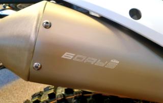 KTM 350 EXC-F Six Days 2021Six Days Logo am Auspuff, Jentlflow Test