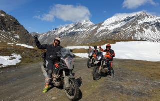 Westalpen Adventurebiketour Jentlflow 2020 Col Sommeiller spektakuläre Kulisse