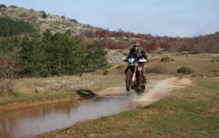Adventurebiketour Jentlflow am TET Kroatien, KTM Adventure 790R am Hinterrad