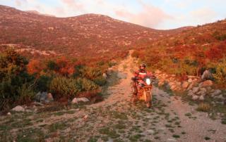 Adventurebiketour Jentlflow am TET Kroatien, Abendsonne