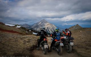 Westalpen Adventurebiketour Jentlflow 2020 Lago Nero Blick zum Chaberton