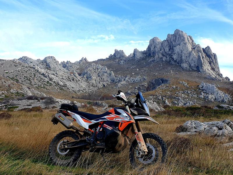 KTM Adventure 790R Adventurebiketour Jentlflow am TET Kroatien, Velebit