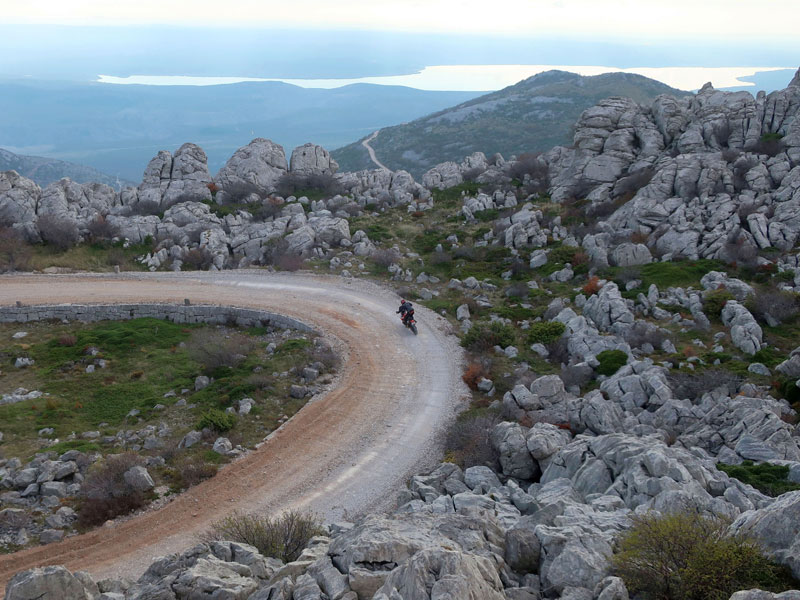 Mali Alan Pass, Adventurebiketour Jentlflow am TET Kroatien