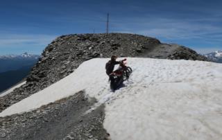 Endurotouren Westalpen jentlflow Schneefeld zum Forte Jafferau
