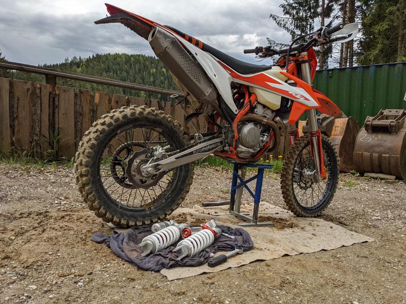 WP Suspension Pro Components Fahrwerk Test KTM EXC